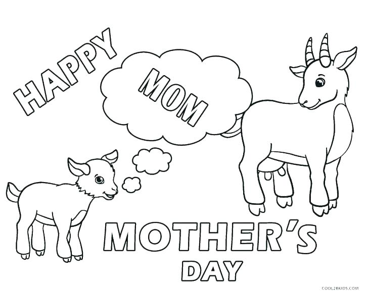 Happy Mother Day Coloring Pages