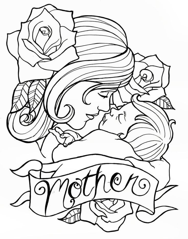 Mothers Day Coloring Pages 2019