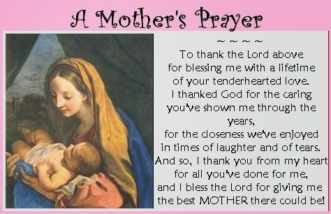 Happy Mothers Day Prayers